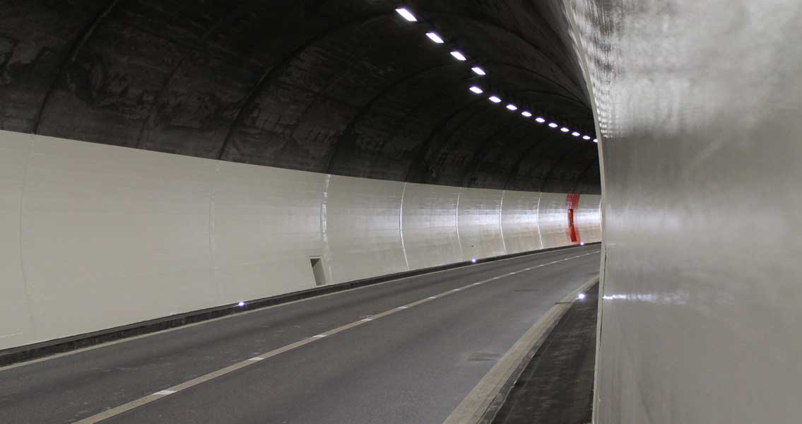 View of the rehabilitated Aeuli Tunnel.